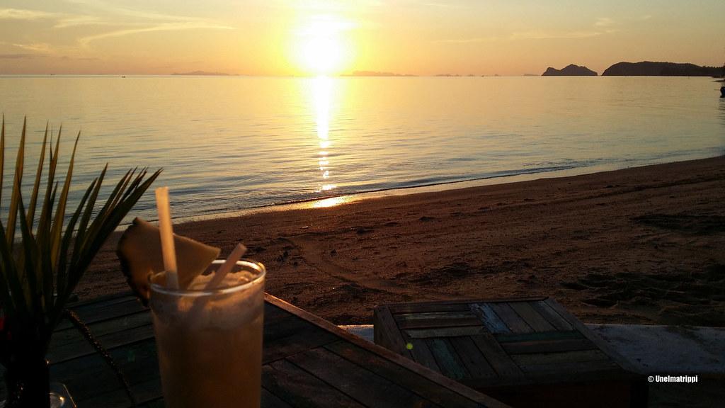 auringonlasku, Koh Phangan, Thaimaa