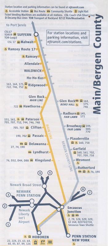 NJT Main Bergen 2016 Map