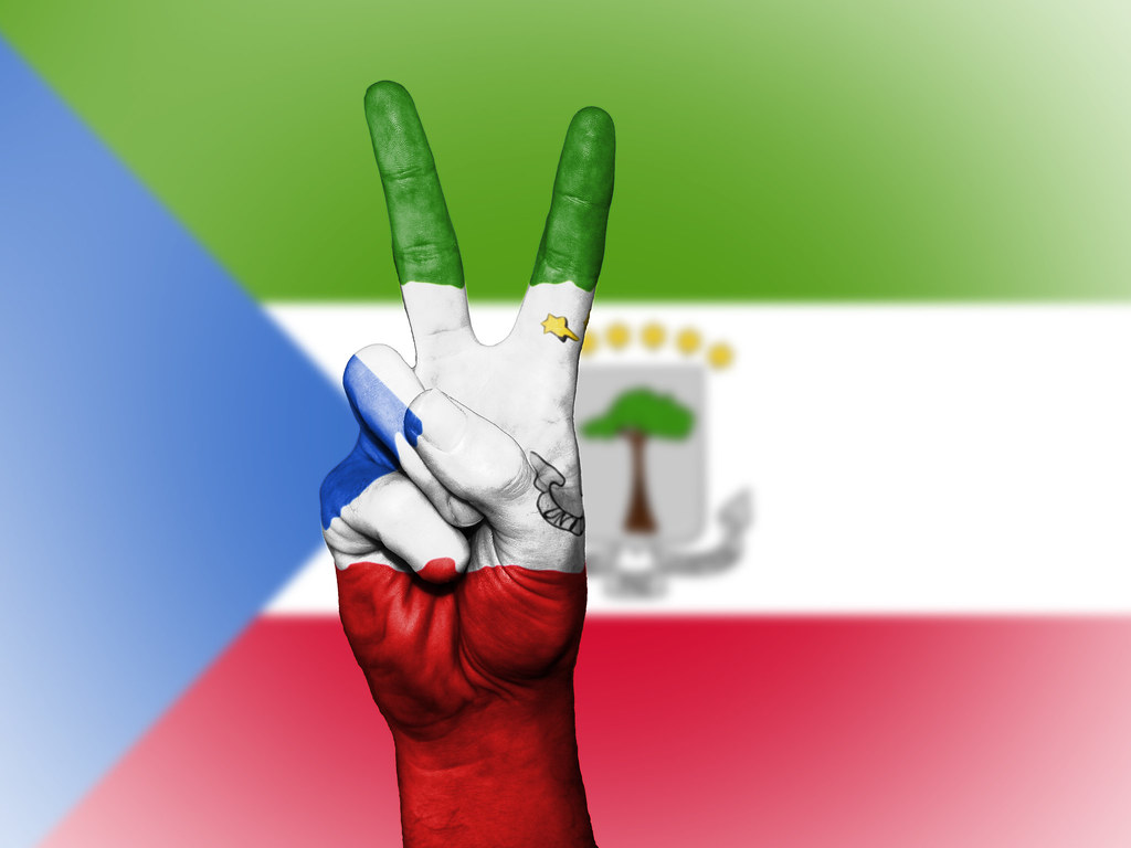 Peace Symbol With National Flag Of Equatorial Guinea Flickr
