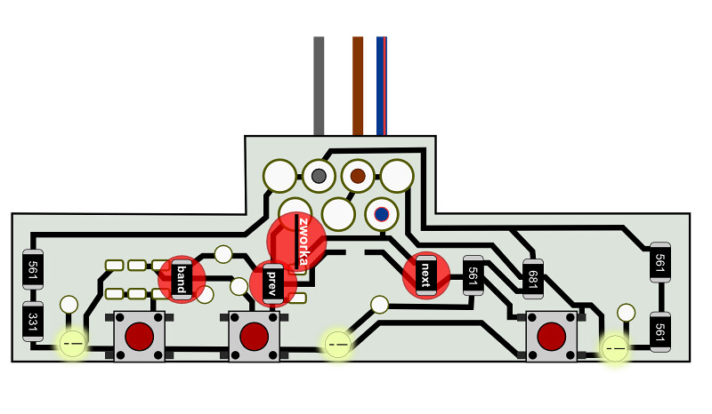 sterowanie radiem z kierownicy astra