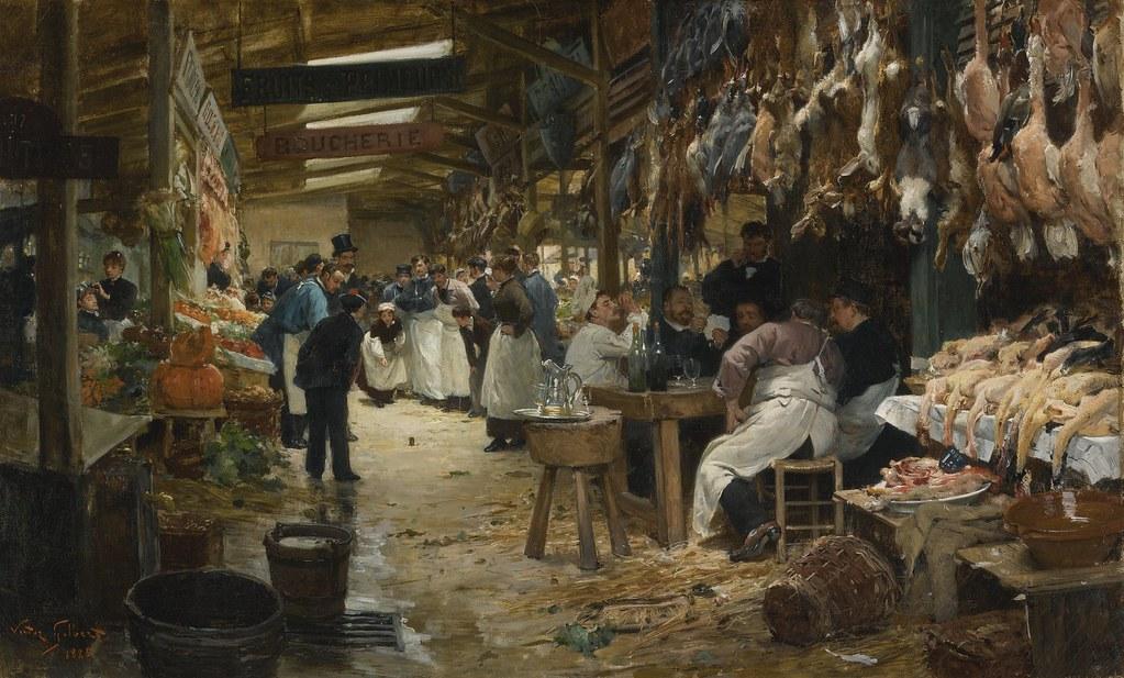 Victor Gabriel Gilbert Paris Market 1885 In The