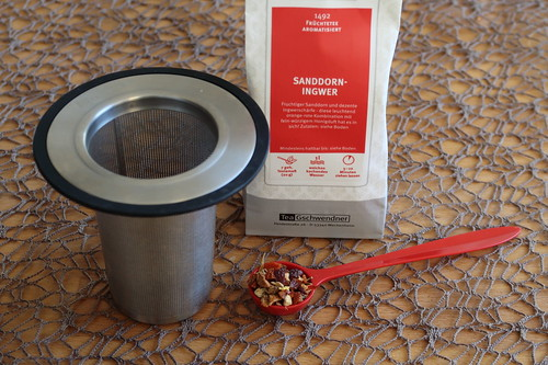Sanddorn-Ingwer-Tee
