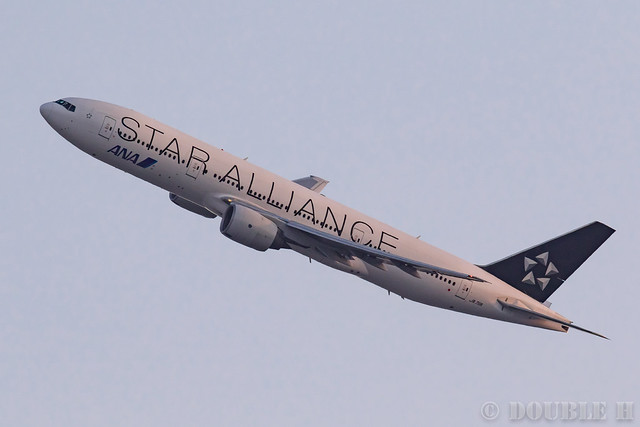 "Itami Airport 2017.1.29 (2) JA711A / ANA's B777-200 with ""STAR ALLIANCE"" logo"