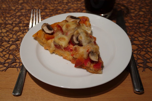 Dicke Pizza (Rest als Nachtimbiss)
