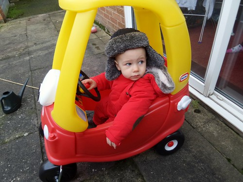 Jamie in his car