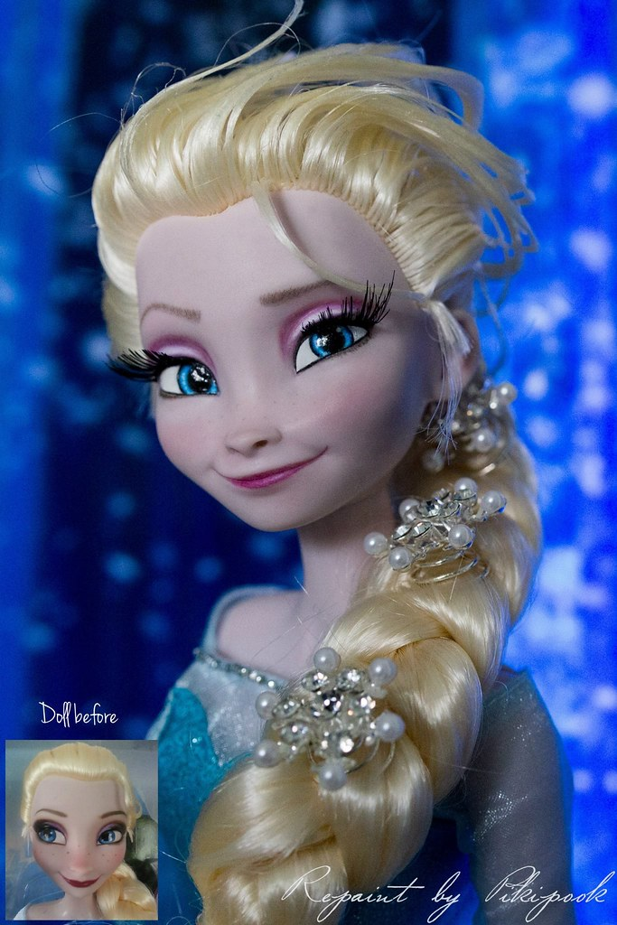 Elsa frozen la reine des neiges repaint ooak limited editi flickr - Photo de la reine des neige ...