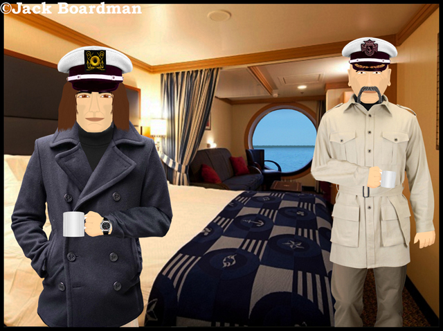 """This will be your stateroom Captain"" ©Jack Boardman"