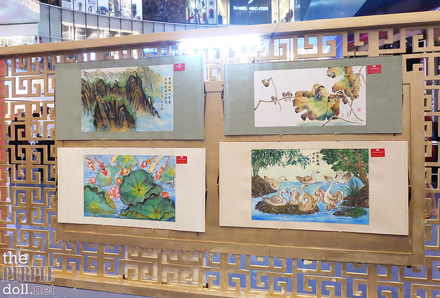 Chan Lim Family of Artists and Students Paintings at SM North