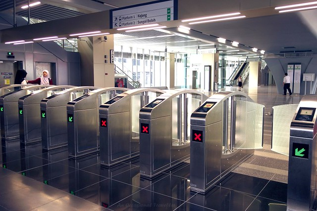 Barrier gates, Surian station