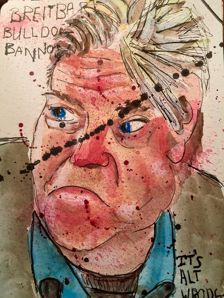 Breitbart Bulldog Steve Bannon has hired a couple of his news cohorts to assist him in advising #Presidenttinyhands. Steve is registered to vote in two states. | by millymills1