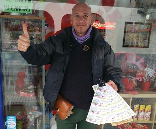 Diego Garrido, vendedor de la ONCE que ha repartido 100.000 euros en Dos Hermanas