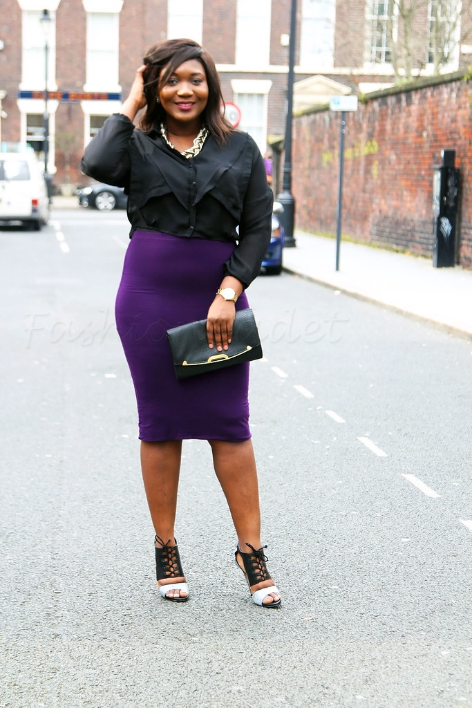 purple-pencil-skirt-black-ruffle-top-peep-toe-lace-up-booties,black and white lace up peep toe ankle boots, peep toe heeled ankle booties, Stretchy pencil skirts, purple Stretchy pencil skirts, bodycon pencil skirt, purple Stretchy pencil skirts, purple bodycon pencil skirt, pencil skirt purple