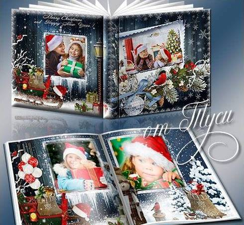 Photobook for Photoshop in PSD – Christmas miracles