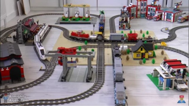 Arduino automated lego train crossing brick news network