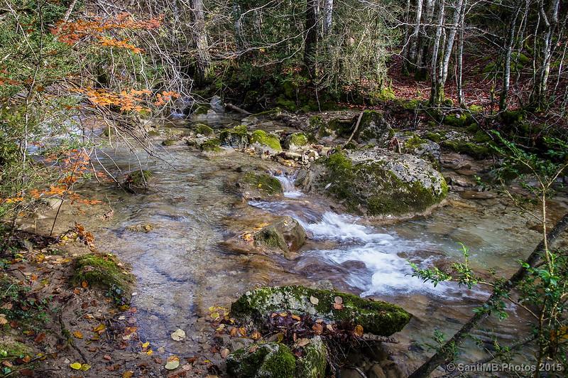 El Belabarze poco antes de la Cascada