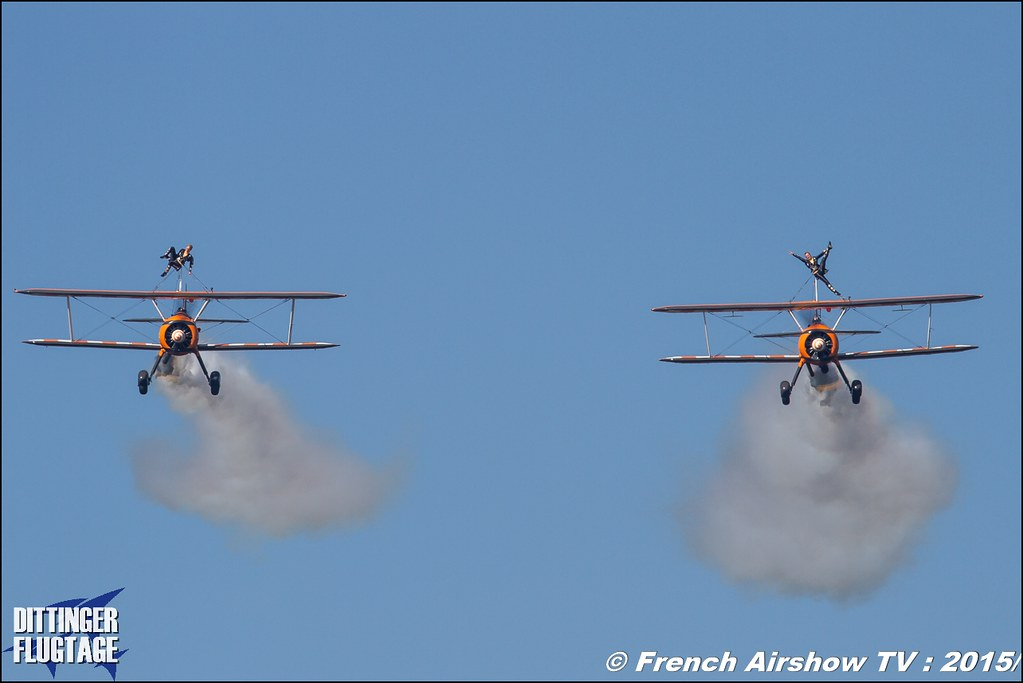 Breitling Wingwalkers , UK Wingwalking Team , aerosuperbatics ,Dittinger Flugtage 2015 , Internationale Dittinger Flugtage, Meeting Aerien 2015