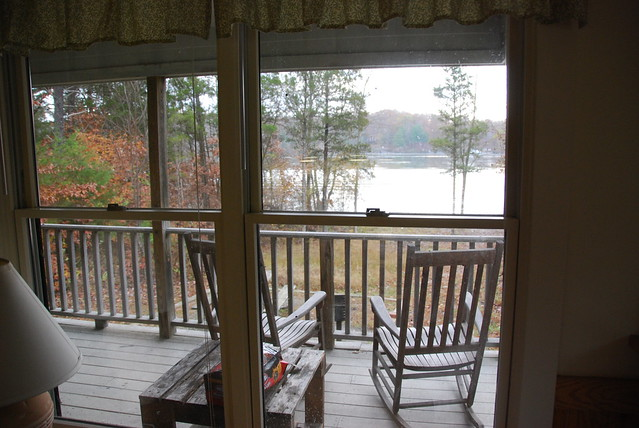 View Of The Water From Inside Cabin 5 At Lake Anna State Park, Virginia