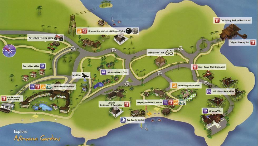 Nirwana Gardens Map