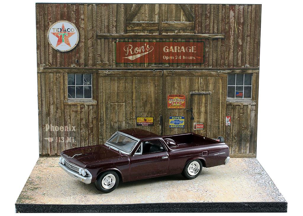 Diorama Pr Sentoir Western Garage Usa 3 Inch 1 64 Me