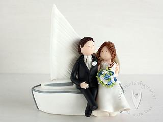 Personalisierte Hochzeitstortenfigur Segelboot Tortenfigur Flickr