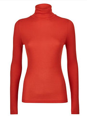 Jaeger red roll neck top