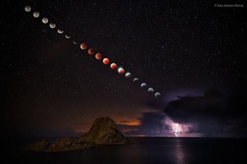 VCSE - Mai kép - Holdfogyatkozás Ibiza szigeténél