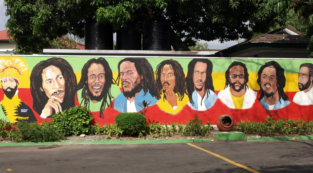 The sons of bob marley mural at bob marley museum kingst for Bob marley mural