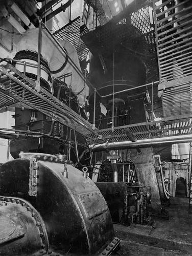 Battleship Engine Room: Engine Room Of The Cargo Ship 'Empire Ruskin'