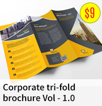 Corporate tri-fold brochure Vol - 1.0