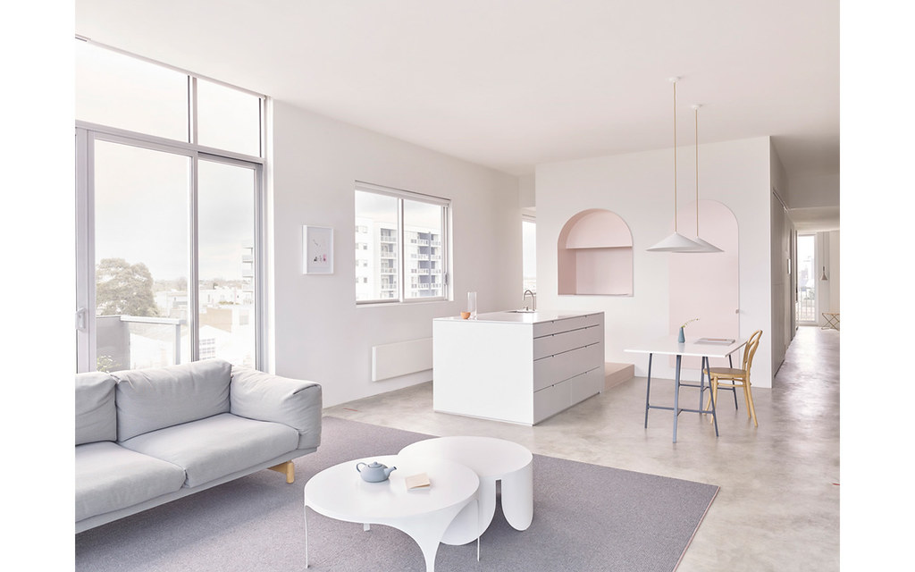 Melbourne pink apartment design by BoardGrove Architects Sundeno_11