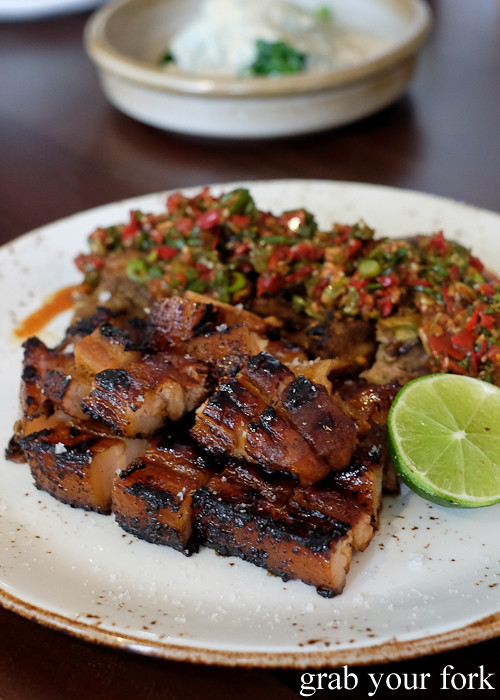 Smoked pork belly at Yan Restaurant in Wolli Creek Sydney