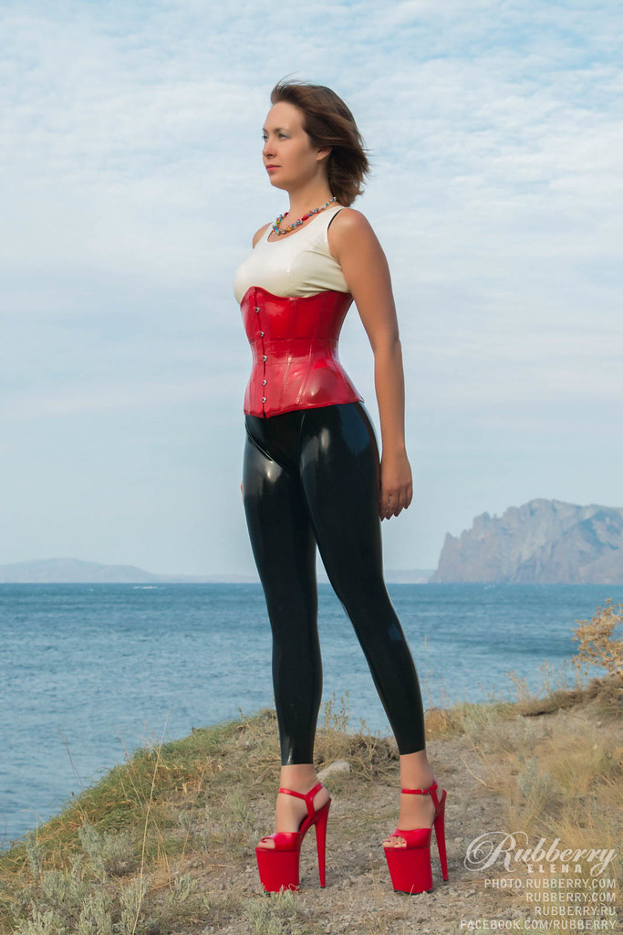 A latex girl black latexthigh high pac boots - 1 part 7