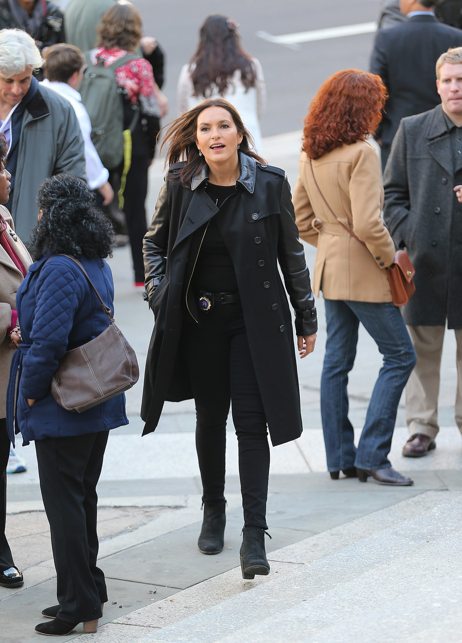 Back to post mariska hargitay at law and order set in ny - Pictured Mariska Hargitay Ref Spl1157717 211015 Exclusive Picture By Lawrence Schwartzwald Splash News And Pictures