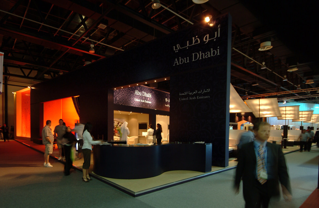 Exhibition Stand Abu Dhabi : Abu dhabi tourism authority exhibition stand design at atm
