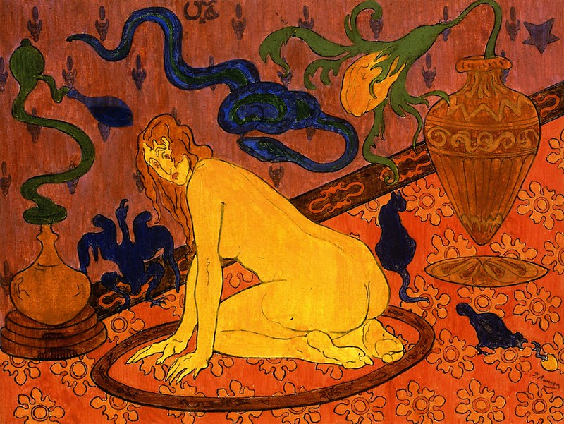Paul Ranson - The Witch in Her Circle, 1892