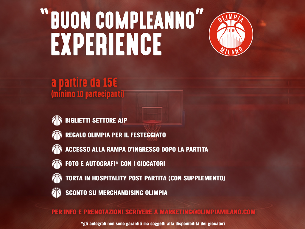 """""""Buon Compleanno"""" Experience"""