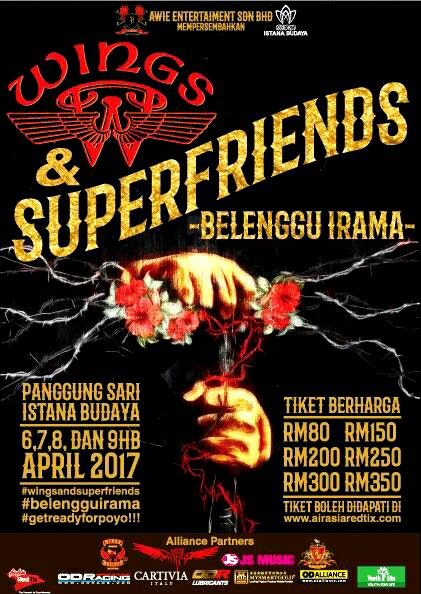 Konsert Wings & Superfriends -Belenggu Irama-