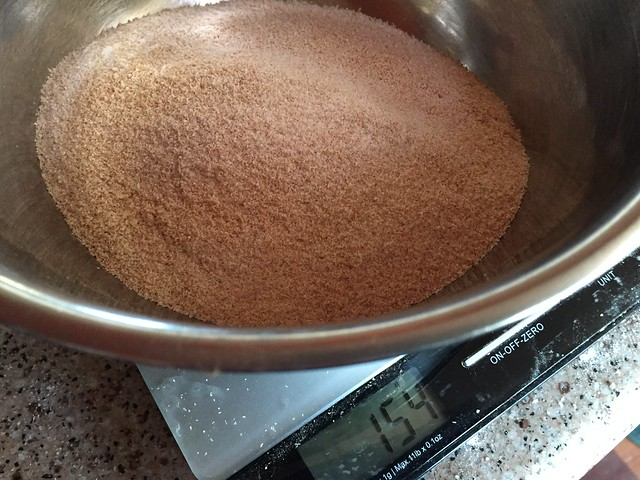 #50 sifted out bran (154g = 36%)