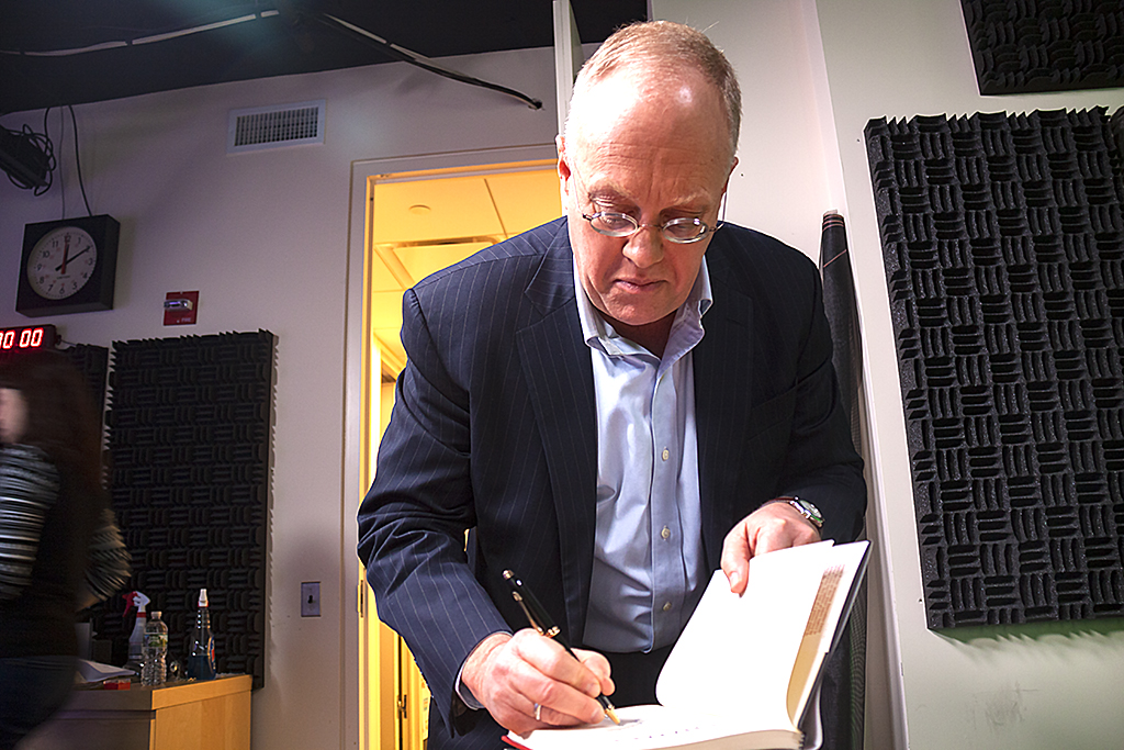 Chris Hedges inside Russia Today studio--New York