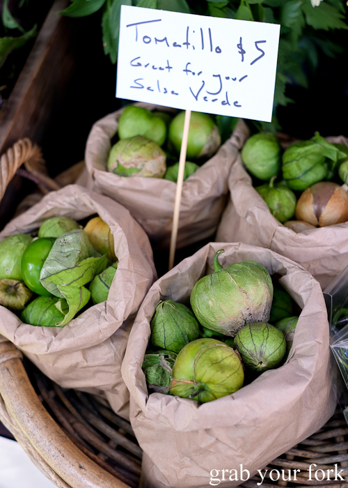 Tomatillo by Provenance Growers at the Salamanca Market in Hobart
