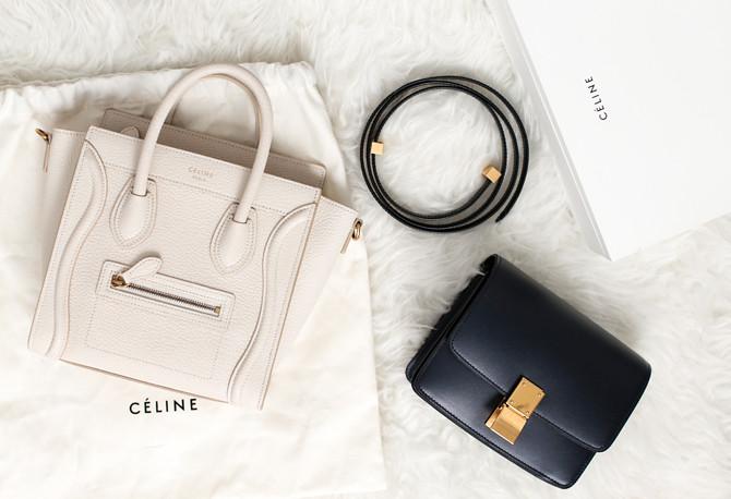 celine luggage nano small mini box bag review