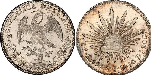 1832 - Mexico_1832Mo_8_reales_rev_Ponterio_152-74352