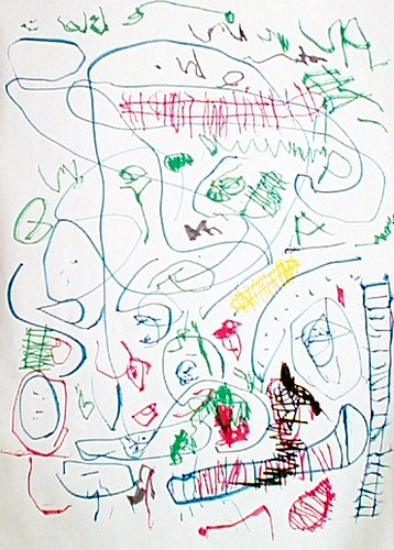 My four-year old's drawing | Bones | nancygoat | Flickr