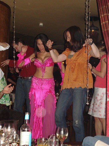 Belly dancer and Tera at Levant restaurant | by fergie_lancealot Fergie