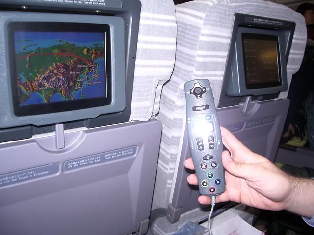 Juegos en el vuelo a Japón