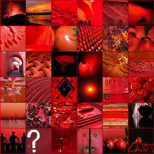 rojo sobre negro (mosaico) / red on black (mosaic) | by -Merce-