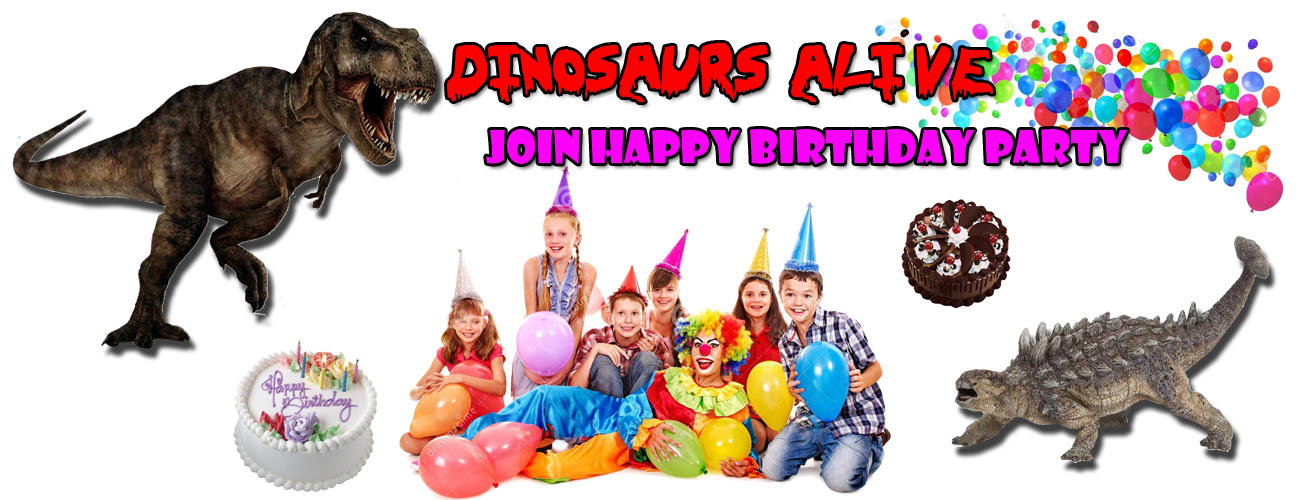 Dinosaur Alive Goes to Birthday Party