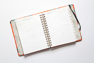 Inside a spiral bound daily scheduler | by yourbestdigs