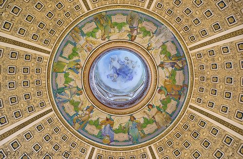Library Of Congress Reading Room Ceiling The Dome On The