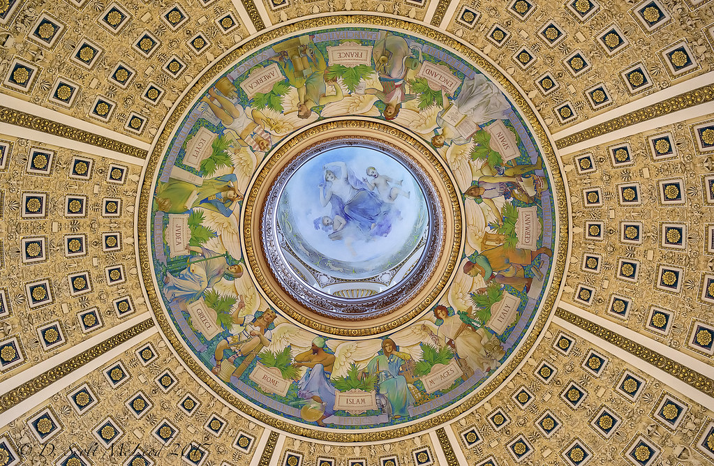 Library Of Congress Reading Room Ceiling